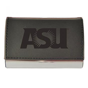 Velour Business Cardholder-ASU Sun Devils-Black