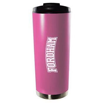 Fordham University-16oz. Stainless Steel Vacuum Insulated Travel Mug Tumbler-Pink