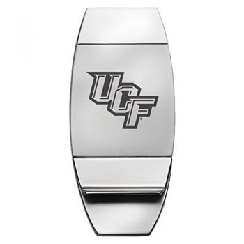 University of Central Florida - Two-Toned Money Clip - Silver