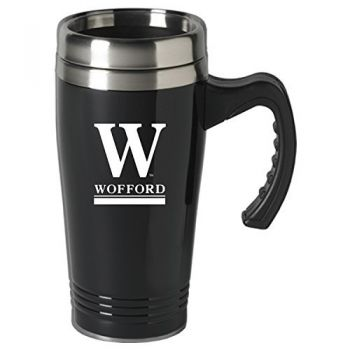 Wofford College-16 oz. Stainless Steel Mug-Black