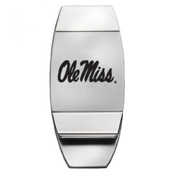 University of Mississippi - Two-Toned Money Clip - Silver