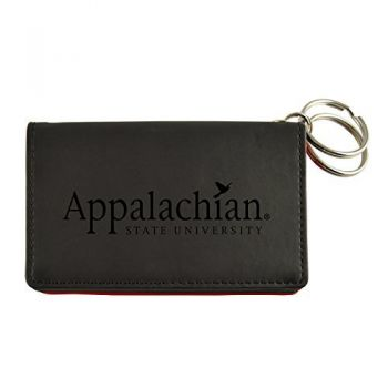 Velour ID Holder-Appalachian State University-Black