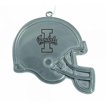 University of Idaho - Christmas Holiday Football Helmet Ornament - Silver