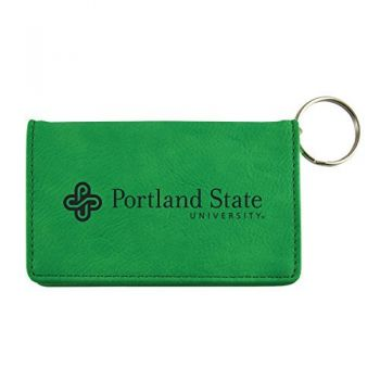 Velour ID Holder-Portland State University-Green
