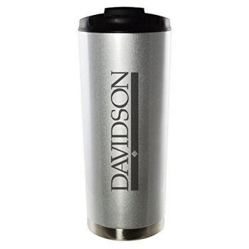 Davidson College-16oz. Stainless Steel Vacuum Insulated Travel Mug Tumbler-Silver