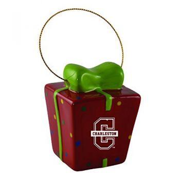 College of Charleston-3D Ceramic Gift Box Ornament