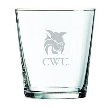 Central Washington University -13 oz. Rocks Glass