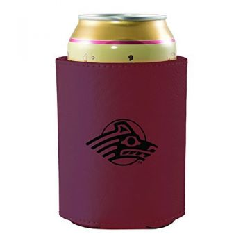 University of Alaska Anchorage -Leatherette Beverage Can Cooler-Burgundy