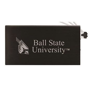 8000 mAh Portable Cell Phone Charger-Ball State University -Black