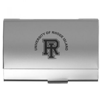 University of Rhode Island - Two-Tone Business Card Holder - Silver