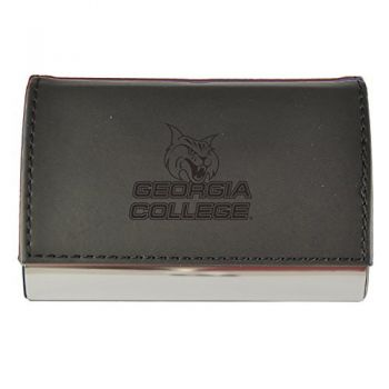 Velour Business Cardholder-Georgia College-Black