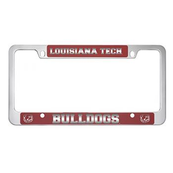 Louisiana Tech University -Metal License Plate Frame-Red