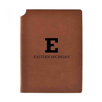 Eastern Michigan University Velour Journal with Pen Holder|Carbon Etched|Officially Licensed Collegiate Journal|