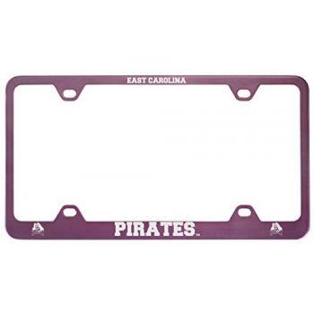 East Carolina University-Metal License Plate Frame-Pink
