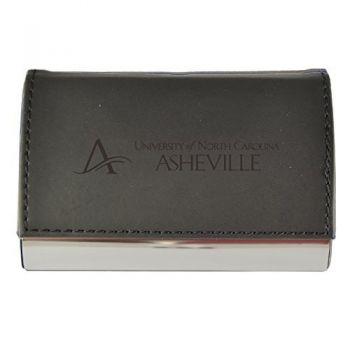 Velour Business Cardholder-University of North Carolina at Asheville-Black