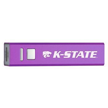 Kansas State University - Portable Cell Phone 2600 mAh Power Bank Charger - Purple