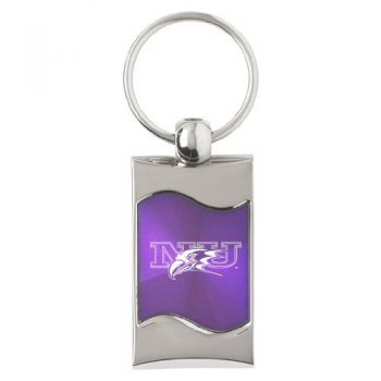 Niagara University - Wave Key Tag - Purple