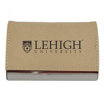 Velour Business Cardholder-Lehigh University-Tan