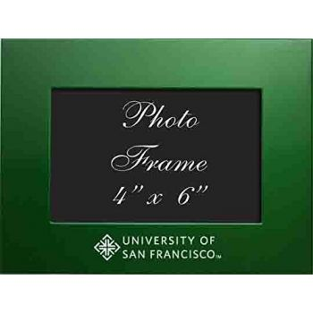 University of San Francisco - 4x6 Brushed Metal Picture Frame - Green
