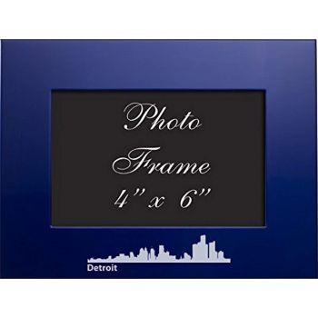 4 x 6  Metal Picture Frame - Detroit City Skyline