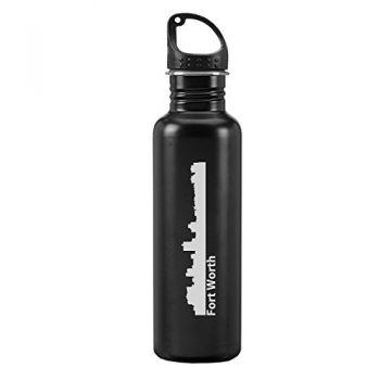 24 oz Reusable Water Bottle - Fort Worth City Skyline