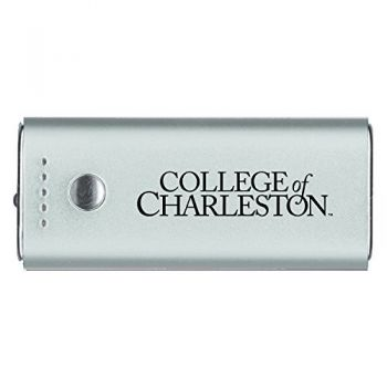 College of Charleston-Portable Cell Phone 5200 mAh Power Bank Charger -Silver