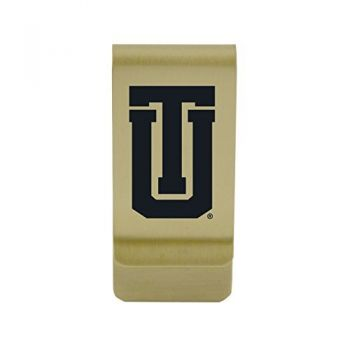 Tulane University|Money Clip with Contemporary Metals Finish|Solid Brass|High Tension Clip to Securely Hold Cash, Cards and ID's|Silver