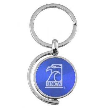 University of North Carolina Wilmington - Spinner Key Tag - Blue