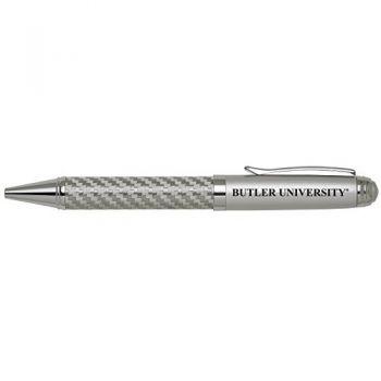 Butler University -Carbon Fiber Ballpoint Pen-Silver