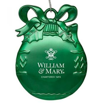 College of William & Mary - Pewter Christmas Tree Ornament - Green