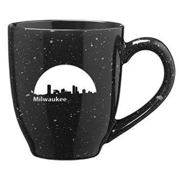 16 oz Ceramic Coffee Mug with Handle - Milwaukee City Skyline