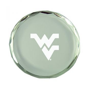 West Virginia University -Crystal Paper Weight
