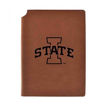 Iowa State University Velour Journal with Pen Holder|Carbon Etched|Officially Licensed Collegiate Journal|