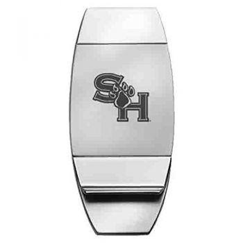 Sam Houston State University - Two-Toned Money Clip - Silver