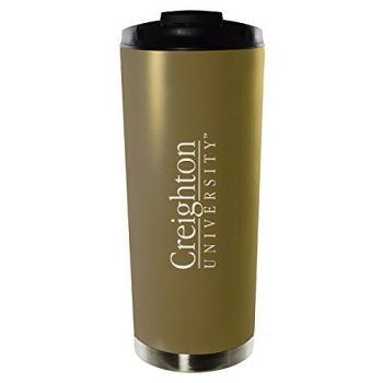 Creighton University-16oz. Stainless Steel Vacuum Insulated Travel Mug Tumbler-Gold