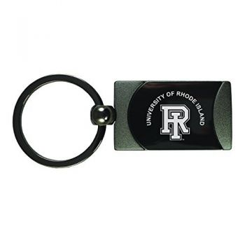 The University of Rhode Island -Two-Toned Gun Metal Key Tag-Gunmetal