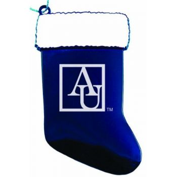 American University - Chirstmas Holiday Stocking Ornament - Blue