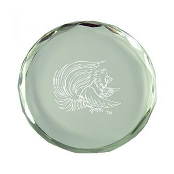 Jacksonville State University-Crystal Paper Weight