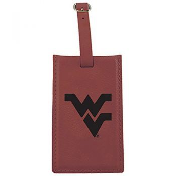 West Virginia University -Leatherette Luggage Tag-Burgundy