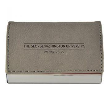 Velour Business Cardholder-George Washington University-Grey
