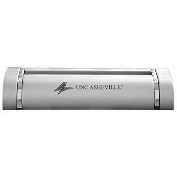 University of North Carolina at Asheville-Desk Business Card Holder -Silver