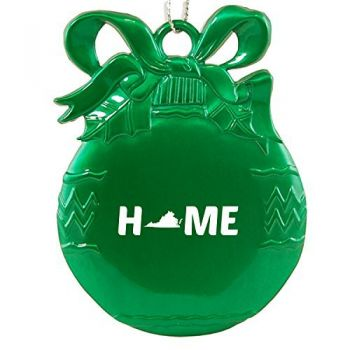 Virginia-State Outline-Home-Christmas Tree Ornament-Green