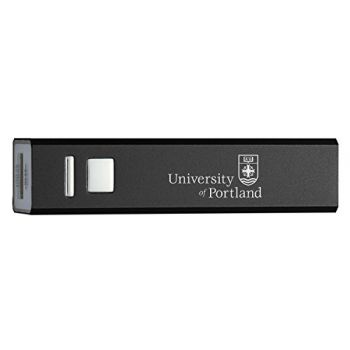 The University of Portland - Portable Cell Phone 2600 mAh Power Bank Charger - Black