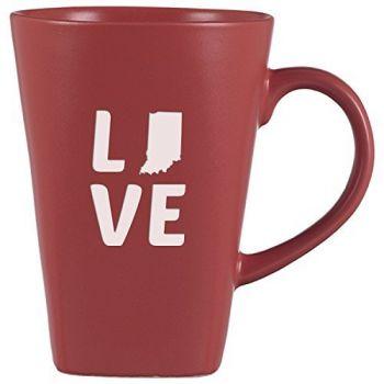 14 oz Square Ceramic Coffee Mug - Indiana Love - Indiana Love