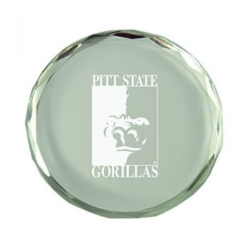 Pittsburg State University-Crystal Paper Weight