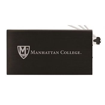 8000 mAh Portable Cell Phone Charger-Manhattan College-Black