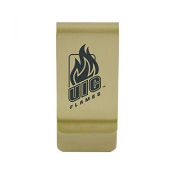 Idaho State University |Money Clip with Contemporary Metals Finish|Solid Brass|High Tension Clip to Securely Hold Cash, Cards and ID's|Silver