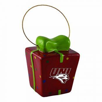 University of Northern Iowa-3D Ceramic Gift Box Ornament
