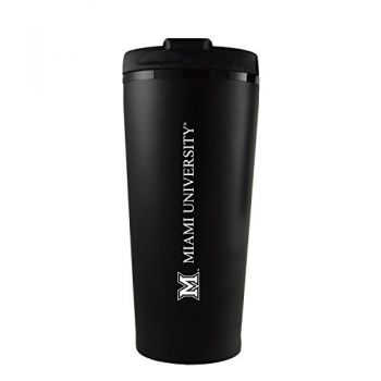 Miami University -16 oz. Travel Mug Tumbler-Black