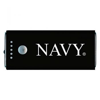 United States Naval Academy -Portable Cell Phone 5200 mAh Power Bank Charger -Black